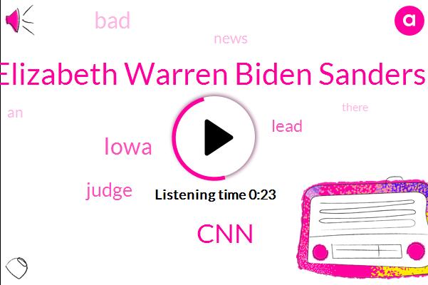 Iowa,Elizabeth Warren Biden Sanders,CNN