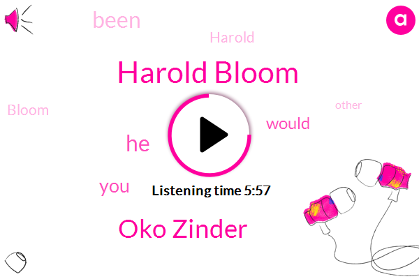 Harold Bloom,Oko Zinder,Milton