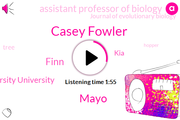 Casey Fowler,Journal Of Evolutionary Biology,Assistant Professor Of Biology,Mayo,Saint Louis University University,Finn,KIA,Ninety Seven Degrees,Sixty Five Degrees