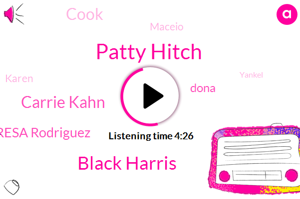 Patty Hitch,Black Harris,Carrie Kahn,Youtube,Terresa Rodriguez,Dona Manila,NPR,Dagnon Cala,Michoacan Mexico,Dona,Pilon Ceo,Mexico City,Cook,Maceio,Karen,Yankel,Benjamin,Sixty Nine Year