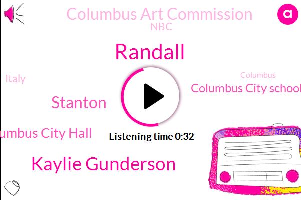 Columbus City Hall,Columbus City School,Columbus Art Commission,Kaylie Gunderson,Randall,Stanton,NBC,Italy