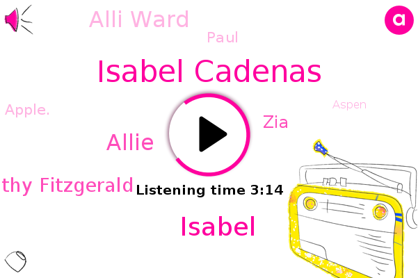 Isabel Cadenas,Isabel,Allie,Kathy Fitzgerald,Apple.,Theft,Aspen,ZIA,Alli Ward,CEO,Paul,Minnesota,LA