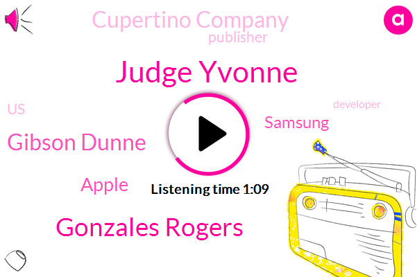 Apple,Judge Yvonne,Gonzales Rogers,Gibson Dunne,Samsung,Publisher,United States,Cupertino Company,Developer