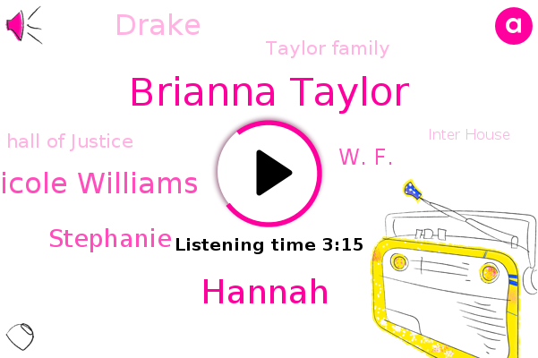Brianna Taylor,Officer,Louisville,Taylor Family,Hall Of Justice,Hannah,Endangerment,Nicole Williams,Inter House,Stephanie,W. F.,Drake