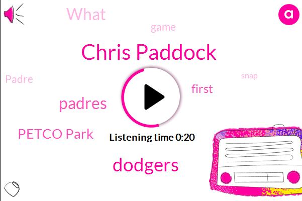 Dodgers,Petco Park,Chris Paddock,Padres