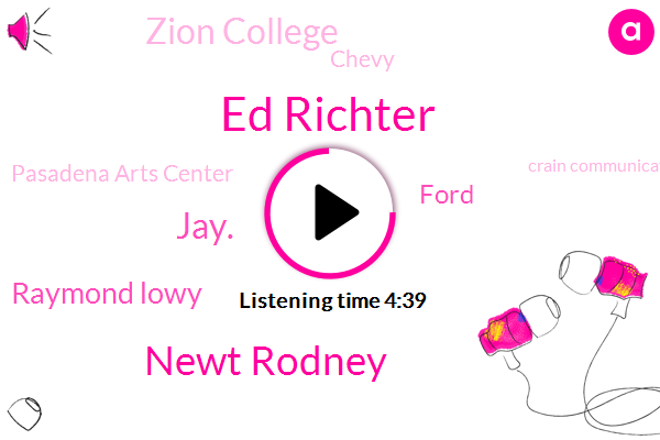 Detroit,Commander,Ed Richter,Ford,Zion College,Newt Rodney,Jay.,Chevy,Pasadena Arts Center,Crain Communications,GM,Raymond Lowy,Matchbox,Mccomb County,MAC