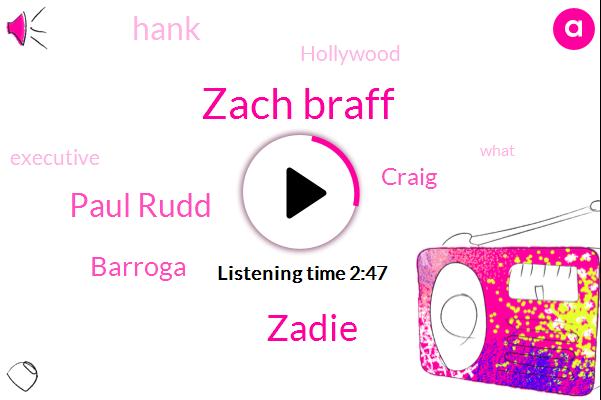 Zach Braff,Zadie,Hollywood,Paul Rudd,Barroga,Executive,Craig,Hank