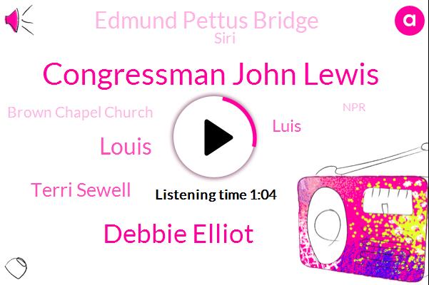 Selma,Edmund Pettus Bridge,Alabama,Congressman John Lewis,Debbie Elliot,Louis,Terri Sewell,Siri,Brown Chapel Church,Luis,Atlanta,NPR,Troy,Montgomery,Georgia,Congress