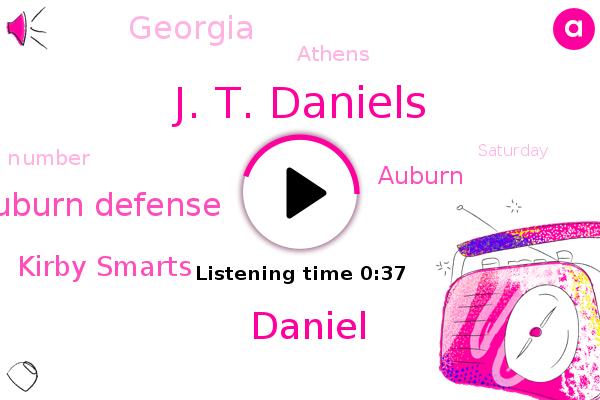 Auburn Defense,Kirby Smarts,Auburn,J. T. Daniels,Daniel,Athens,Georgia
