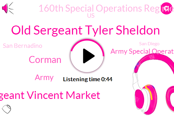 Army Special Operations Command,Old Sergeant Tyler Sheldon,United States,160Th Special Operations Regiment,Sergeant Vincent Market,San Bernadino,Stan Clementi Island,Army,San Diego,Corman,Fort Bragg,Assault,California,New Jersey,California.