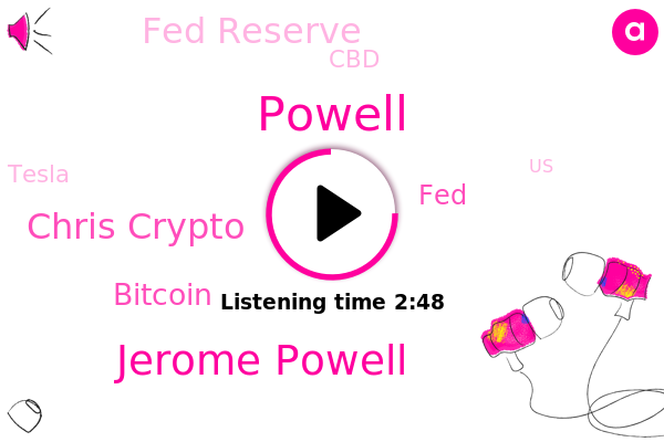 Jerome Powell,Chris Crypto,Fed Reserve,CBD,Powell,FED,United States,Bitcoin,Tesla