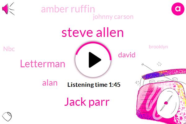 Steve Allen,Jack Parr,Brooklyn,NBC,Letterman,Alan,David,Amber Ruffin,Johnny Carson,Hollywood,America