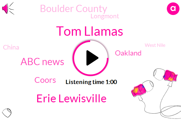 Boulder County,Boulder,Chief National Correspondent,Erie Lewisville,Tom Llamas,ABC,West Nile,United States,Deet,Oakland,Mexico,Longmont,Colorado