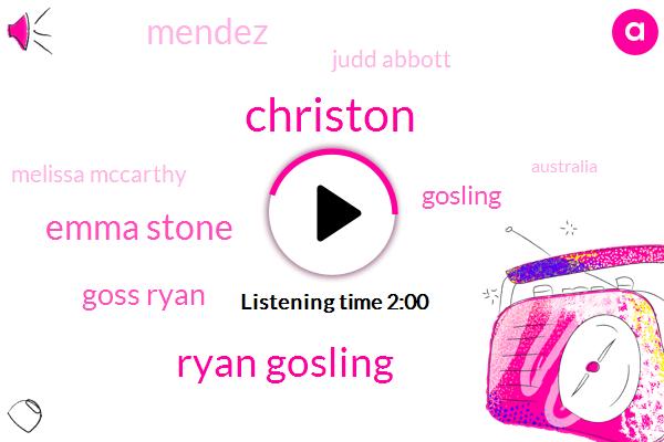 Ryan Gosling,Emma Stone,Mendez,Australia,Melissa Mccarthy,Judd Abbott