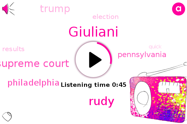 Pennsylvania Supreme Court,Philadelphia,Pennsylvania,Giuliani,Rudy