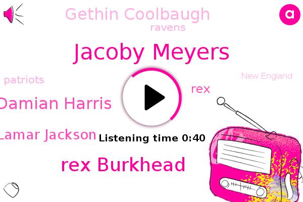 Jacoby Meyers,Rex Burkhead,Patriots,Ravens,New England,Damian Harris,Football,Lamar Jackson,REX,Gethin Coolbaugh,Foxboro,Massachusetts