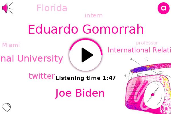 Eduardo Gomorrah,Joe Biden,Florida,Florida International University,Twitter,Intern,Miami,Augustina Costa,International Relations,Professor