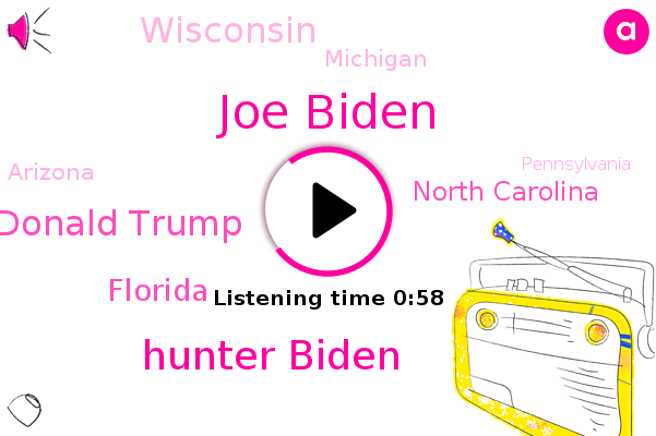 Joe Biden,Hunter Biden,Donald Trump,Florida,North Carolina,Wisconsin,Michigan,Arizona,Pennsylvania