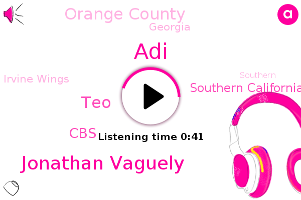 Southern California,Jonathan Vaguely,Irvine Wings,Orange County,TEO,CBS,ADI,Georgia