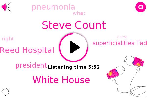 President Trump,White House,Walter Reed Hospital,Steve Count,Superficialities Tad,Pneumonia