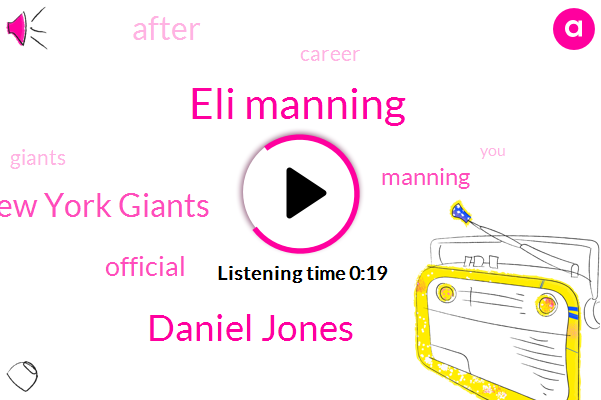 New York Giants,Eli Manning,Daniel Jones,Official