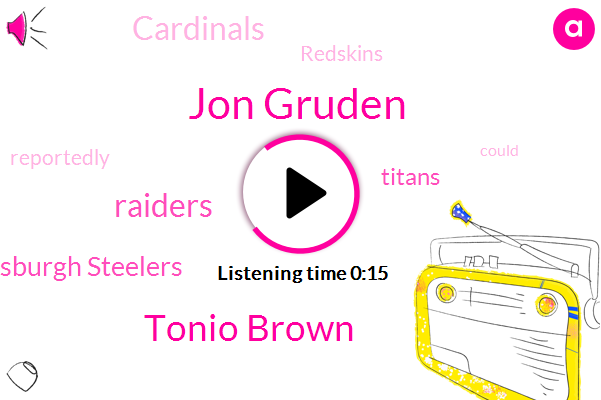 Jon Gruden,Pittsburgh Steelers,Tonio Brown,Titans,Cardinals,Raiders,Redskins