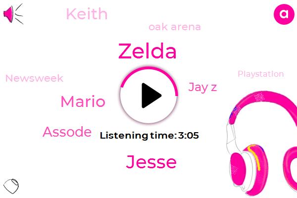 Zelda,Oak Arena,Mario,Jesse,Assode,Newsweek,Engineer,Jay Z,Playstation,Keith