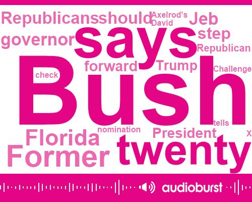 Listen: Jeb Bush wants a Republican to challenge Trump in 2020