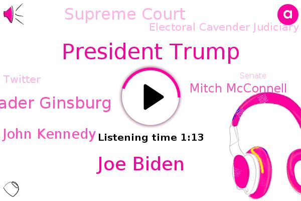 President Trump,Joe Biden,Supreme Court,Ruth Bader Ginsburg,Electoral Cavender Judiciary Committee,Senator John Kennedy,Mitch Mcconnell,Twitter,Senate,Louisiana