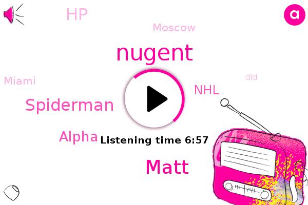 Alpha,NHL,Moscow,Miami,Nugent,Matt,Spiderman,HP