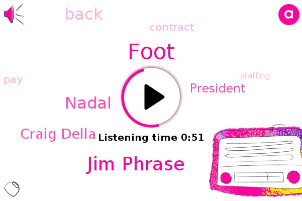 Foot,Jim Phrase,Nadal,Craig Della,President Trump