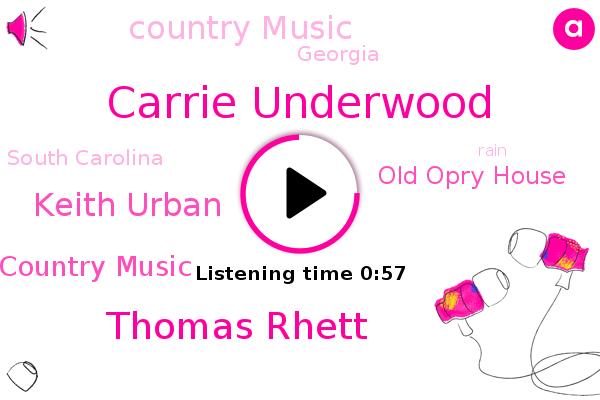 Academy Of Country Music,Carrie Underwood,Old Opry House,Country Music,Thomas Rhett,Keith Urban,South Carolina,Georgia