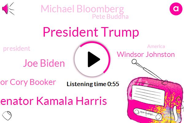 President Trump,Senator Kamala Harris,Joe Biden,Senator Cory Booker,America,Windsor Johnston,Michael Bloomberg,Delaware,NPR,United States,Pete Buddha,California