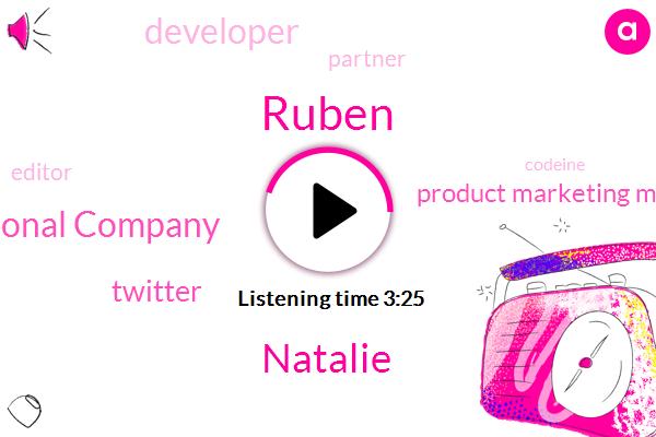 Ruby,Product Marketing Manager,Ruben,Brennan Susan International Company,Codeine,Developer,Twitter,Natalie,Partner,Editor