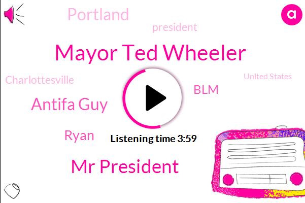 Mayor Ted Wheeler,Portland,Mr President,Antifa Guy,President Trump,BLM,Charlottesville,Ryan,Arson,United States,America,Vandalism