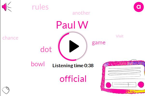 Paul W,Official