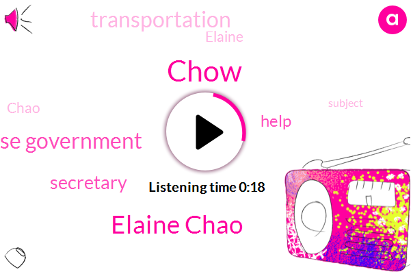 Elaine Chao,Chinese Government,Secretary,Chow