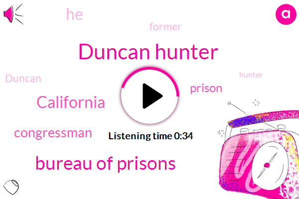 Duncan Hunter,California,Congressman,Bureau Of Prisons