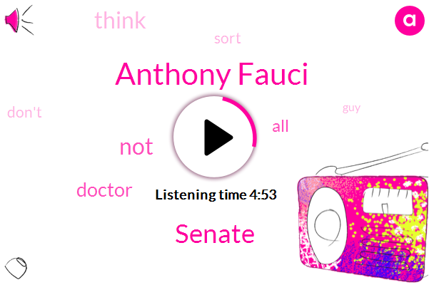 Anthony Fauci,Senate