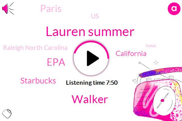 California,NPR,Lauren Summer,Paris,EPA,United States,Raleigh North Carolina,Iowa,North Carolina,Walker,Starbucks,Los Angeles