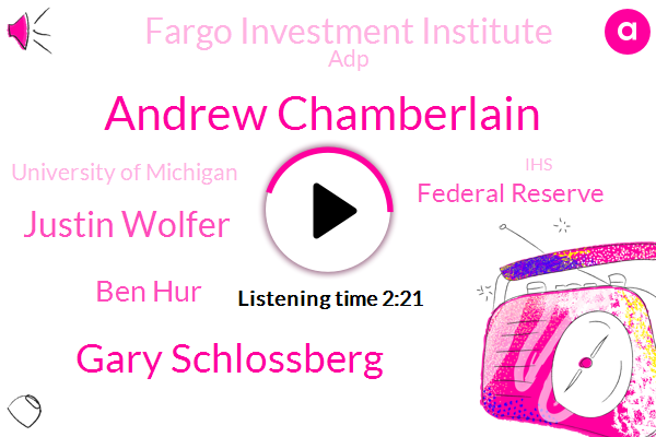 Andrew Chamberlain,Gary Schlossberg,Justin Wolfer,Chief Economist,Federal Reserve,Fargo Investment Institute,ADP,Ben Hur,University Of Michigan,Professor Of Economics,IHS,TSA