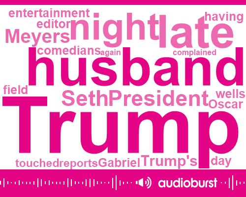 President Trump,Kellyanne Conway,Seth Meyers,George Conway,Oscar Wells Gabriel,Alec Baldwin,AP,Editor,NBC,Myers