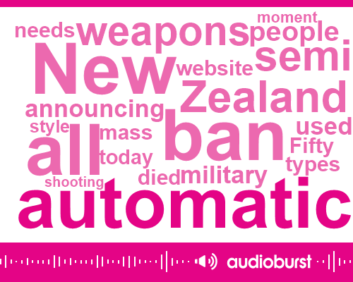 Listen: New Zealand PM announces ban on semi-automatic and automatic weapons