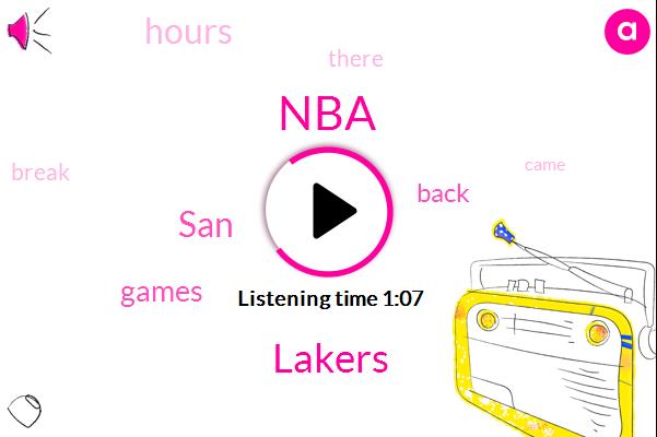 NBA,Lakers,SAN,Three Hours