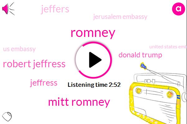 Jerusalem,Mitt Romney,Twitter,Robert Jeffress,Dallas,President Trump,United States,Utah,Senate,Donald Trump,Advisor,Jeffers,Two Thousand Years