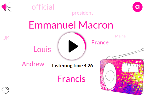 Emmanuel Macron,France,Francis,President Trump,Louis,UK,Official,Maine,Andrew,Fantas,Charleston,Sixty Percent,Four Years