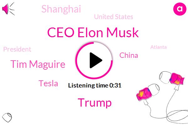 Ceo Elon Musk,China,Shanghai,United States,President Trump,Donald Trump,Tesla,Tim Maguire,AP,Atlanta,Mexico