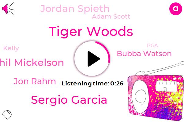 Tiger Woods,PGA,Sergio Garcia,Phil Mickelson,Jon Rahm,Bubba Watson,Kepco,Jordan Spieth,Adam Scott,Kelly