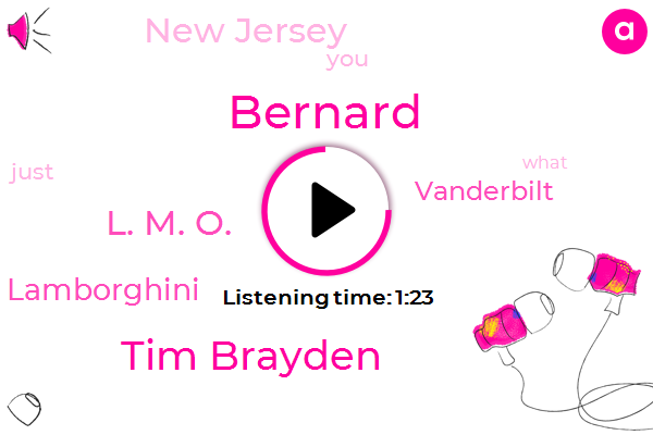 Bernard,New Jersey,Tim Brayden,Lamborghini,Vanderbilt,L. M. O.,Hundred Million Dollar,One Day