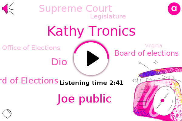 Virginia State Board Of Elections,Virginia,Kathy Tronics,Board Of Elections,Supreme Court,Joe Public,Legislature,Office Of Elections,Michigan,Sebastian,America,DIO